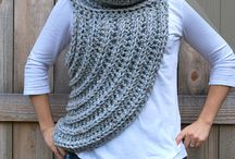 Katniss Cowl Scarf - Hunger Games  / Knit and crochet patterns and accessories inspired by katniss everdeen's huntress vest cowl in District 12 / by Ashley @ A Crafty House