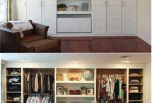 ikea built in closet / by Jennifer Feddern