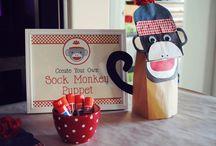 Sock Monkey Party theme / by Lisa Frank