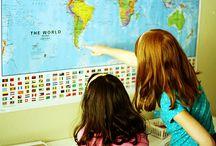 homeschooling - geography / by Kari White / Earthy Mama Goods