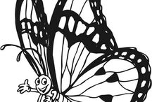 Printables / Print outs like coloring pages, gift tags, and name tags. All in one place / by Handpressions