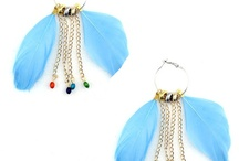 Feather Hoop Earrings / by KissPat Feather