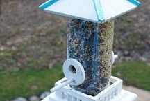 Birdhouse feeders  / Feel free to browse and pin also have a birds board and birdcages thnx for pinning  / by Laura Kass