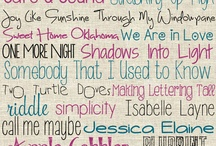 Fonts / by Kim Buie