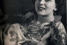 Vintage tattooed people / Vintage pictures of pionneers of the tattoo tradition / by Vintage Market