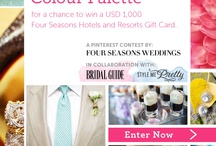 My LuxBride Wedding Palette / Board for the Pin Your Wedding Color Palette contest http://magazine.fourseasons.com/pin-your-wedding-color-contest / by Kira @ Her New Leaf