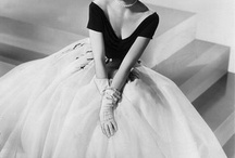 Modcloth Style Icon of the Times entry / A 1950s girlwear person :D,Grace Kelly and Audrey Hepburn in 1 board  / by Beth Tang