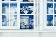 Blue and White Kitchen / by Primitive Folk Artist Sue Corlett