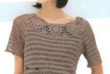 Tops Crocheted / Crochet blouses, sweaters, and shirts / by Julie Moon