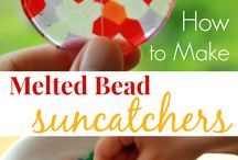 Plastic bead sun catchers / by Debby Morgan