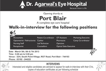 Career Opening  / Glad to inform you all that we are going to open our branch in Andaman : / by Dr-Agarwal's Eye Hospital