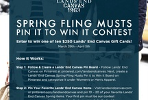 Lands' End Canvas Spring Fling Musts Pin It to Win It / by Mama-Nikki Vosburgh