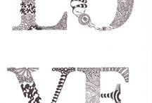Typography/ Zentangle / by Sweet Little Nursery