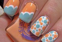 Uñas / Diseño y decoración en uñas hecho con puro esmalte / by Lilí Trejo Segura