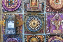 My Mixed Media Mosaics / A selection of my polymer clay handmade tile mixed media mosaics, icons and shrines. / by Laurie Mika