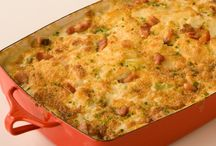 Comforting Casseroles / One baking pan filled with veggies, meats and creamy sauces makes for an easy, one-dish dinner. Check out our best casserole recipes! / by Cooking Channel