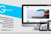 Joomla's Portfolio Template / creative design for joomla's template / by Miclee Thomas Br.