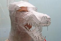 Cardboard, puppetry, and paper masks and art / by Israel Milstead