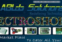 Electroshop / An online market-place where one can find all types of Robotics kits,accessories,electronic components,electronic hardware,sensors, trainer boards etc... / by ABLab Solutions