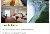 """Pin Your """"Niagara Falls Courtyard Experience, to Win it"""" Contest / by Niagara Falls Courtyard"""
