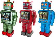retro robots / by Elaine nickelson