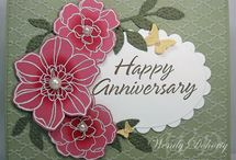 Stampin Up Flower cards / by Debbie Peters