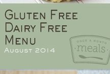 Gluten Free Dairy Free August 2014 Freezer Menu / by Once A Month Meals