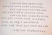 Shakespeare / by Elizabeth Gentry