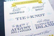 Wedding invitations / by Jenna Elisabeth