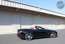 """2013 SL550 with Vossen wheels and H&R suspension / We get the altitude adjusted on this big body convertible and add some staggered 20"""" Vossen CV3 and Michelin Pilot Sport tires. / by 503 Motoring"""