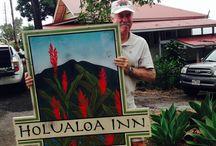 Vintage Hawaiiana Sign Art / by Holualoa Inn