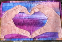 Quilted fabric art for sale  / Go to http://www.etsy.com/shop/landscapelady to purchase / by Quilted Fabric Art