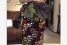 My up cycled bottles / I up cycled my own wine bottles and now take my friends empties too!  / by Glenda Whaley