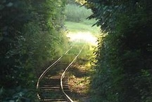 remembering trains / by Marilyn Malone