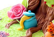 Cake decorating - Fondant figurines / by NyrakGreen Cakes