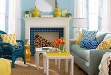 Spaces: Blue & Yellow / by Seri Dreiling