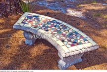 Tile bench inspirations / by Gail Seymour