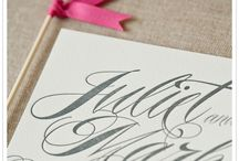 Wedding Stationery / by A Modern Proposal - Edmonton Wedding Planner