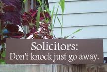DIY front door signs / by Kimberly Crain