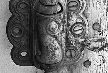 ~*~ Antique & Fancy Door Hardware & Gates / Antique & Fancy Hinges ~ Knobs ~ Locks ~ Door Knockers ~ Latches, Gates & Fences. Enjoy! / by Kellena M Harrington