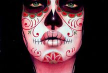 day of the dead art / Day of dead,art,tattooed,sugar skull / by Laurie Dowdy Stewart