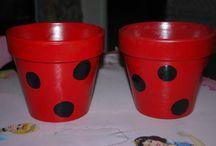 Ladybug 1st birthday. This is if i have a girl. / by Ashley Velez