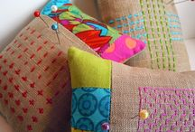 Pincushions / cute and lovely pincushions, because they are always a nice gift or treat for oneself / by Zen Chic, modern quilts by Brigitte Heitland