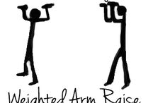 new arms home workout / by Gerald Kelsey