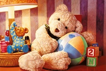 Teddy...always there.... / seems I am always drawn to a teddy bear....I don't really know why...but, if I see one I really must hold him...it only for a moment....I do have teddy at home too...cause they are just too cute!!  Got to LOVE a teddy!!!! / by Michelle Asbell