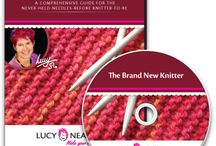 """Learn With Lucy"": my Instructional DVDs and Video Downloads / The 'Learn with Lucy' titles are professionally filmed and produced, to give you the coveted 'knitters-eye view'.  http://lucyneatby.com/index.php?department=DVDs / by Lucy Neatby"