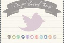 Social Media Icons & Fonts / by Stephanie Lincecum