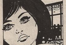 cerecita's stolen comics  / Los diálogos de viejos cómics se reinterpretan para trasladarnos a un presente frívolo, superficial y carente de todo excepto de estupidez. / by María Isabel Sánchez Vegara