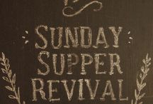 Sunday Supper Revival / A collection of seasonal recipes to share with your family. Sunday Supper used to be a time honored tradition: a time to relax, share values and stories, a place at the table to invite friends and family. Gather for supper each Sunday and enjoy delicious from-scratch recipes featuring seasonal ingredients.  / by ~Julia~