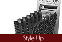 Style Up / The Olivia Garden Style Up high performance professional folding teasing brushes are ideal for teasing, creating volume, back brushing and texture creation. Founded in 1968, #OliviaGarden has a long-standing, family history designing and manufacturing high quality #BeautyTools engineered to exceed hairdresser and consumer needs. Find the right brush for your hair at OliviaGarden.com #BeautyTools #StyleUp  / by Olivia Garden International